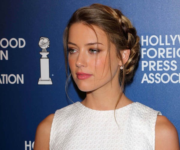 Amber Heard at the Hollywood Foreign Press Association's 2013 Installation Luncheon, Beverly Hilton, Beverly Hills, CA 08-13-13
