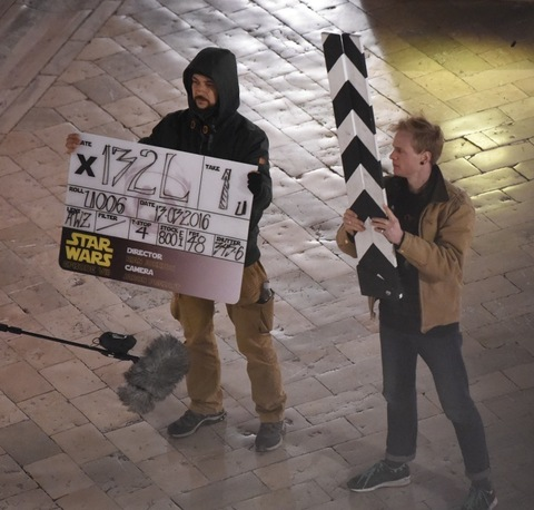 Star Wars Episode VIII filming in Dubrovnik, Dramatic scenes on set as a land speeder is seen exploding in to bits, new characters and aliens are seen for the first time on set. Photos taken on March 13th 2016 Ref: SPL1245610 140316 Picture by: NW / Splash News Splash News and Pictures Los Angeles:310-821-2666 New York: 212-619-2666 London: 870-934-2666 photodesk@splashnews.com